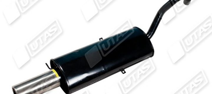 Basic silencer rolled / st.steel exhaust: