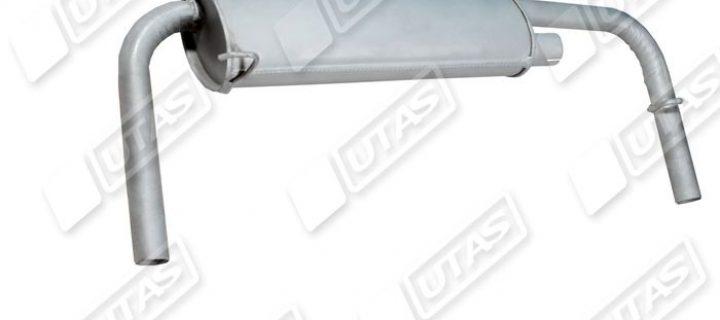 Глушитель основной катаный/выпуск с 2 трубами: